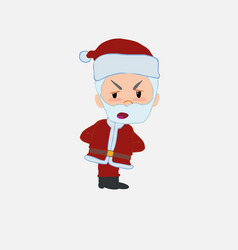 Santa claus is slightly angry vector