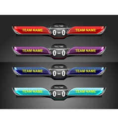 scoreboard template sport game vector image