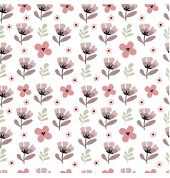 seamless pattern in pastel colors spring mood vector image