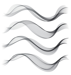set abstract color smoke wave transparent wave vector image