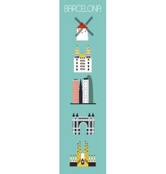 set barcelona symbols vector image