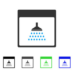 Shower calendar page flat icon vector