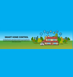 smart home control system automation modern house vector image