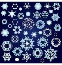 snowflake factory vector image