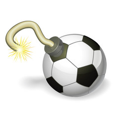 soccer ball bomb concept vector image
