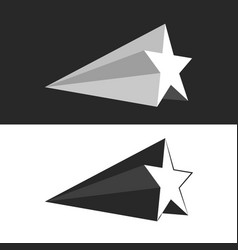 star logo set motion isometric shape minimalist vector image