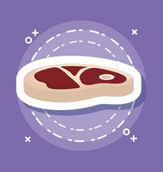 steak of meat icon vector image