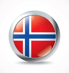 Svalbard flag button vector