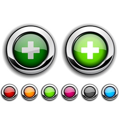 Switzerland button vector image
