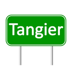 Tangier road sign vector
