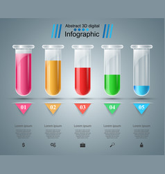 Test tube experiments business infographics vector