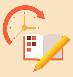 Time poanirvoat case to schedule and timetable vector