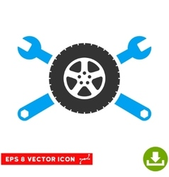 Tire Service Wrenches Eps Icon vector image