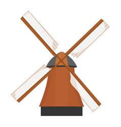 traditional rural windmill vector image