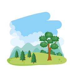 tree landscape nature vector image