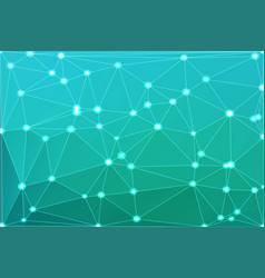 Turquoise shades geometric background with mesh vector