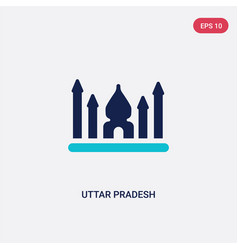 Two color uttar pradesh icon from india concept vector