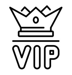 Vip crown icon outline style vector