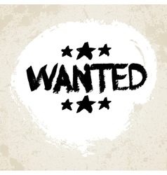 Wanted Grunge Text vector image vector image