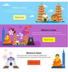 Welcome to taiwan template for web banner vector