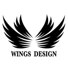 Wings design 7 vector