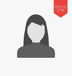 Woman avatar icon Flat design gray color symbol vector image