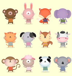 Collection of cute animals design vector image