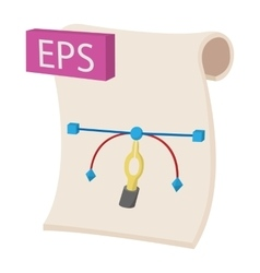 EPS icon cartoon style vector image