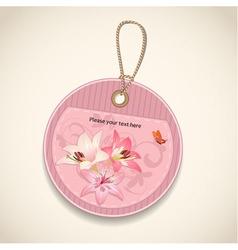 Floral design label vector image