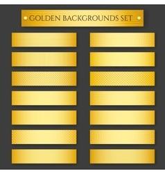 Golden Backgrounds set vector image