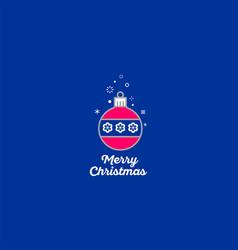 merry christmas ball icon vector image