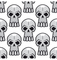 Seamless pattern of angry stylized skulls vector image