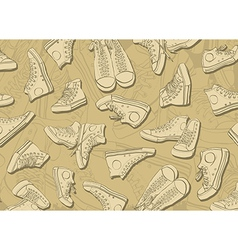 Sneakers Background vector image vector image