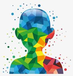 colorful body design vector image