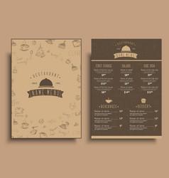 design a menu for a cafe or restaurant in a retro vector image