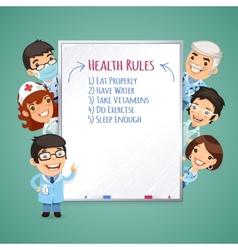 Doctors Presenting White Board vector image vector image