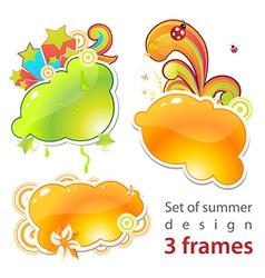 Fresh Summer Set vector image vector image