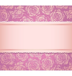 Pink invitation card vector image vector image