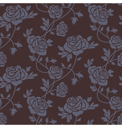 Roses damask vector image vector image