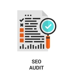 seo audit icon vector image