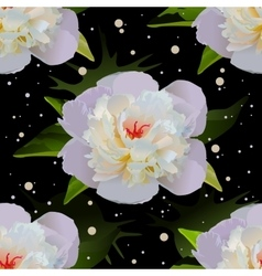White lily on black water Seamless floral vector image