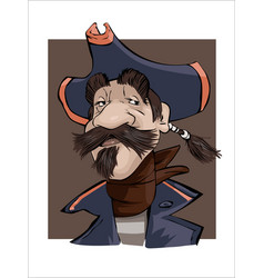 a portrait of a brave pirate capitan vector image