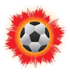 Ball bouncing balls with fire from a fierce kick vector