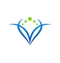 beauty abstract woman symbol logo vector image