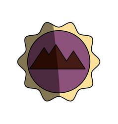 egyptian pyramids symbol vector image