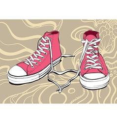 Pink Sneakers vector image vector image