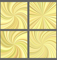 Yellow spiral and starburst background set vector image vector image