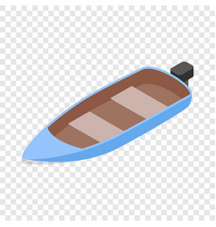 blue motor boat isometric icon vector image vector image