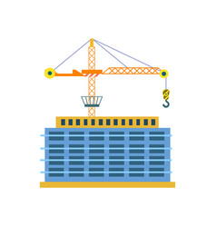 construction of building isolated icon vector image