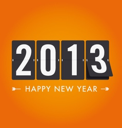 new year 2013 mechanical count style vector image vector image